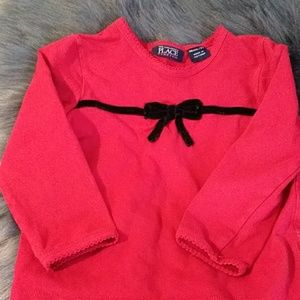Red girls blouse